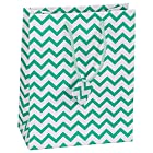 10 pcs Small Chevron Green Glossy Shopping Paper Gift Sales Tote Bags with Blank Message Tag 4 x 2.75 x 4.25