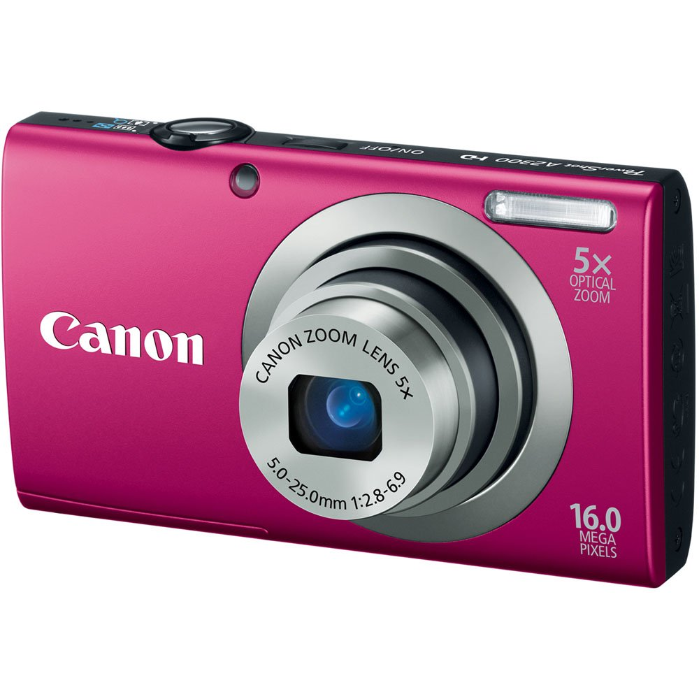 Canon PowerShot A2300 IS 16.0 MP Digital Camera with 5x Digital Image Stabilized Zoom 28mm Wide-Angle Lens with 720p HD Video Recording (Red) $99.99