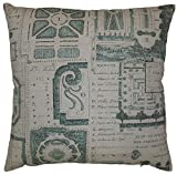 Van Ness Studio Jardin Decorative Throw Pillow, Blue