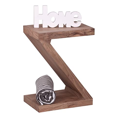 """Soggiorni Ling WL1, 456 in legno di acacia legno massiccio tavolino """"Z"""" Cube 44 x 30 x 59 cm con ripiano"""