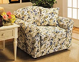 Madison Stretch Jersey Chair Slipcover, Floral, Blue