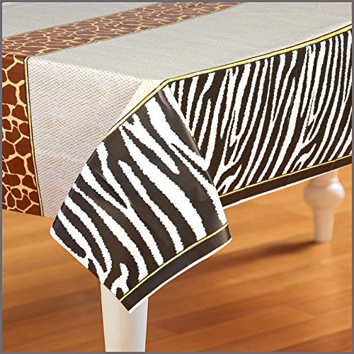 Birthday Express - Safari Adventure Party Plastic Tablecover
