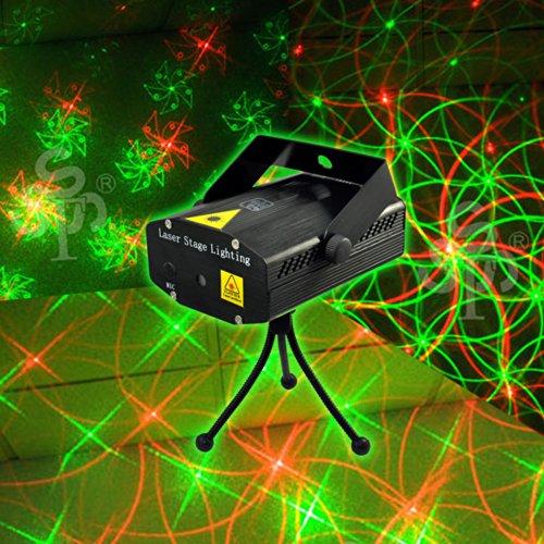 Dashuhuwai Mini Laser Stage Lighting Dj Bar Club Pub Disco Dancing Party Show Effect Light / Mini Mixed Red&Green Stage Lighting Projector Spotlight Music Active Dj Equipment For Disco Lights Club Party / Perfect Pattern!!! Mini Laser Stage Lighting Dj Ba