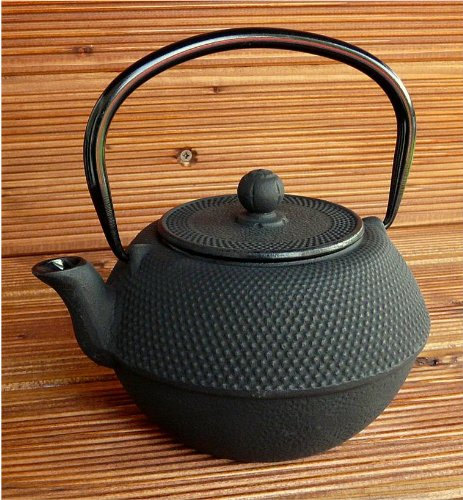 teeblume - Cast Iron Teapot Arare 1.1 litre, black, incl. shipping costs