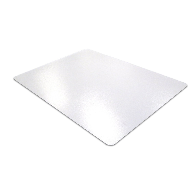 Floortex ecotex enhanced polymer rectangular chairmat standard pile eco113648ep - Deep pile carpet protector ...