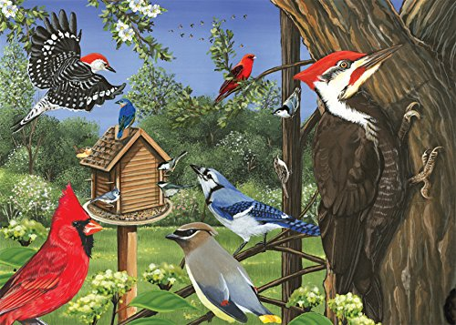 Cobble Hill Around The Birdfeeder Jigsaw Puzzle, 35-Piece