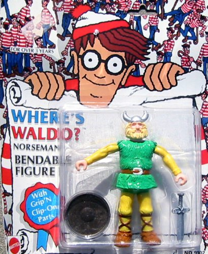Where's Waldo? Norseman Bendable Figure - 1