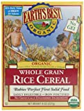 Earths Best Organic Whole Grain, Rice Cereal, 8-Ounce Box (Pack of 12)