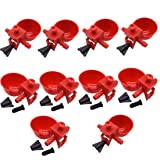 Walkingpround 10pcs Bird Cage Chick Coop Feed Quail Drinking Cups Chicken Water Bowl Pigeon Automatic Water Feeder Farm Animal Tool