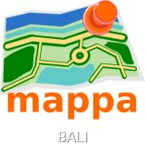 Bali, Indonesia, Offline mappa Map - Karte