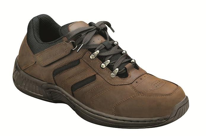 Orthofeet Shreveport Mens Hiking Sneakers Tie-less 10 M US