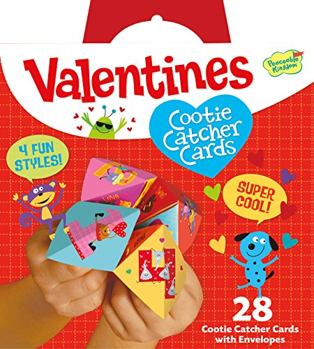 Fantastic Deal! Peaceable Kingdom / Valentine Cootie Catcher Super Valentine Card Pack