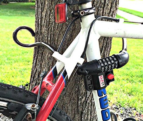 1 rated bike lock u fit new 2016 combination bike lock with lock holder bike attachment. Black Bedroom Furniture Sets. Home Design Ideas