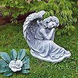 Steinfigur Engel Angel Gartenfigur Grabengel Skulptur...