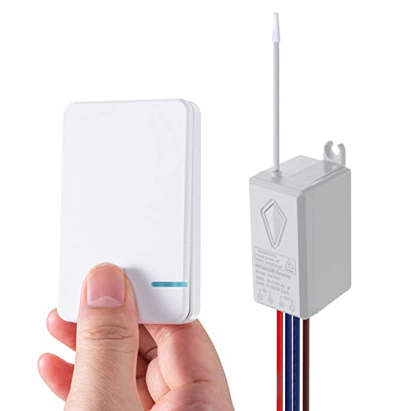 HENDUN Smart Wireless Light Switch Compatible with Alexa, Google Assistant, APP Remote Control with Timer for Ceiling Lamp LED Bulb, IP54 Waterproof Outdoor Wall Switch, CE/FCC/ROHS Listed