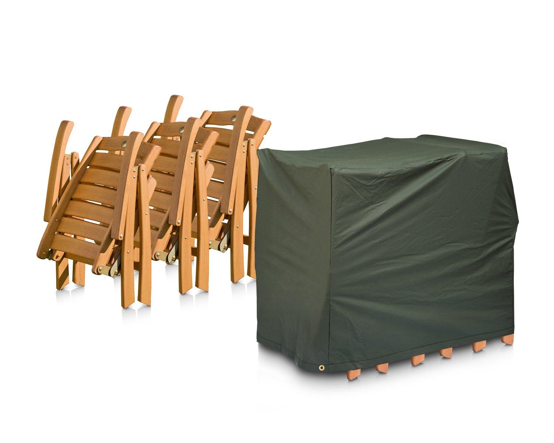Eigbrecht 146455 Wood Cover Abdeckhaube Schutzhülle für 4 Sessel geklappt grün 60x90x80cm