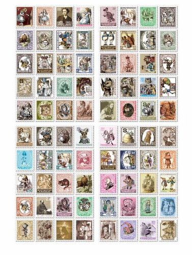 Or / done / not / not ♪ fairy tale European antique stamp seal 80 x 6 species postcard set Alice oz witch star Prince Britain Paris London stamp women's collection accessories gift wrapping to (set of 6)