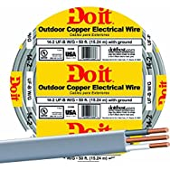 Southwire 13054218 Do it Underground Feeder Cable-50' 14-2 UFW/G WIRE