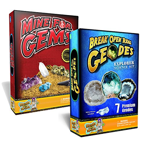 Kid's Science Value Pack - Mine for Gems + 7 Piece Geode Rock Science Kit (Science Gems compare prices)