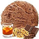 Schoko Rum Nuss Gianduja 333 g Gino Gelati Eispulver Geschmack für Ihre Eismaschine