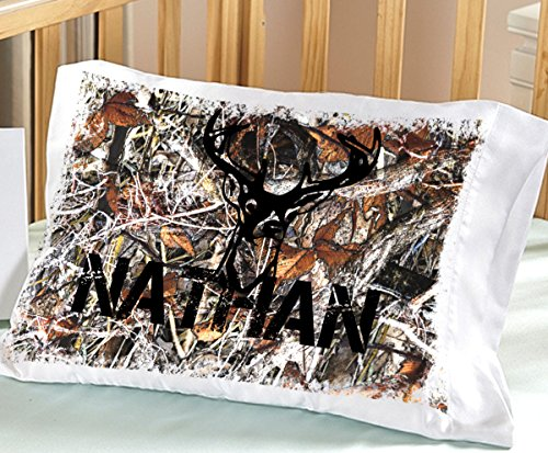 Personalized Camo Pillowcase ( Toddler 13 x 20, White ) for Kids Camouflage Bedding Custom with Name Pillowcase for Kids Boys Birthday or Christmas Gift for Child (Custom Name Pillowcase compare prices)