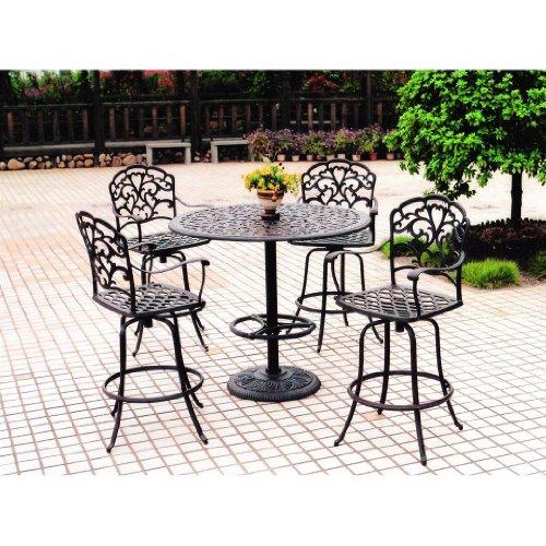 darlee catalina pedestal cast aluminum outdoor patio bar