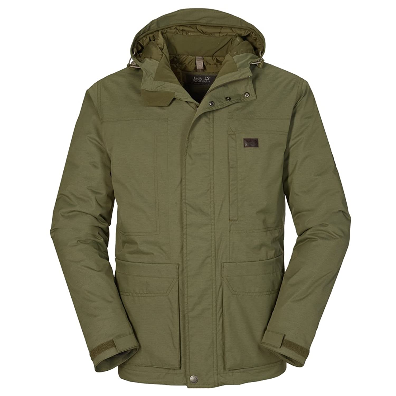 Jack Wolfskin M Elliston Texapore Jacket – Burnt Olive – – Leichte warme wasserdichte Herren Texapore Wetterschutzjacke online kaufen