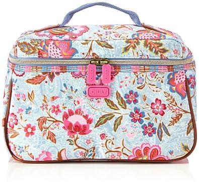 oilily womens summer blossom l beauty case cosmetic bag blue blau sky 520 size 29x18x13 cm b. Black Bedroom Furniture Sets. Home Design Ideas