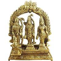 "Divya Shakti Ram Darbar Statue - Lord Rama Laxman And Sita Religious Indian Art Statue - 4.6"" X 3.8"" X 1.5"" (..."