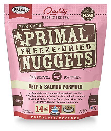 Primal Pet Foods Freeze-Dried Feline Beef and Salmon Formula 14oz (Primal Freeze Dried Food compare prices)
