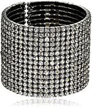 Purple by M. Haskell Crystal Wide Cuff Bracelet