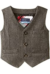 Andy & Evan Baby Boys' Grey Herringbone Suit Vest