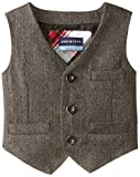 Andy & Evan Baby Boys' Grey Herringbone Suit Vest