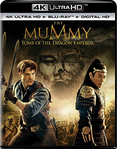 4K Blu-ray : The Mummy: Tomb of the Dragon Emperor (With Blu-Ray, Ultraviolet Digital Copy, 4K Mastering, Digitally Mastered in HD, 2 Pack)