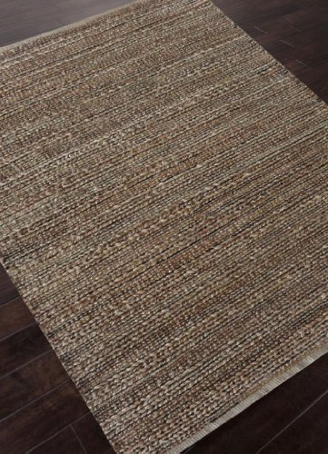 Addison and Banks AMZ14 Naturals Solid Pattern Cotton/Jute Area Rug, 3.6-Feet by 5.6-Feet, Taupe/Gray