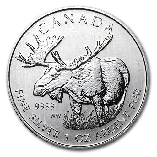 2012 Canada Silver Moose Wildlife