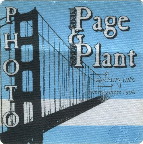 Jimmy Page & Robert Plant 1998 Backstage Pass Photo Blu Led Zeppelin