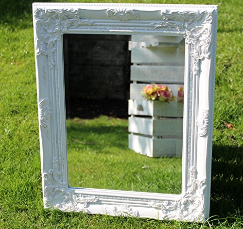 antique-style-shabby-chic-white-with-gold-brush-bevelled-glass-wall-mirror-by-vintage-collection