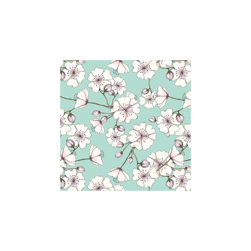 Jillson Roberts Recycled Flat Gift Wrap, Cherry Blossom, 12 Sheet Count (F378)