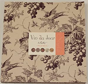 "Vin Du Jour Layer Cake 42 - 10"" Fabric Squares By 3 Sisters for Moda"