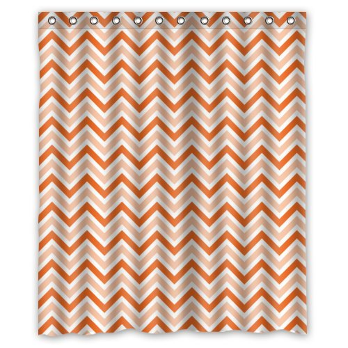 Light Orange And Orange Ziazag Chevron