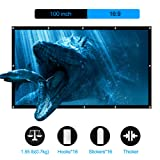 LATIT 100 inches Projection Screen, Rear Projector Screen for Home Theater, HD Movie Screen Indoor Outdoor Foldable No Crease Wrinkle Free Screens 16:9 (Tamaño: 100 Inch)