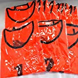 ビブス 1番~12番 12枚セット サッカーフットサルベスト オレンジ ネオンカラー