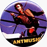 Adam Ant - Antmusic (Body Shot) - 1 1/4&quot; Button / Pin - AUTHENTIC RETRO EARLY 1990s - DISCONTINUED!