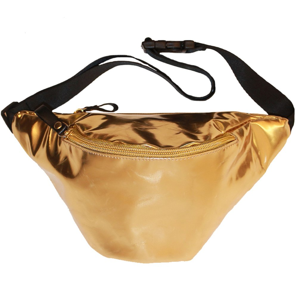 Extreme 80's - Shiny Gold Fanny Pack