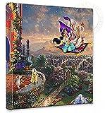 Thomas Kinkade Aladdin 14x14 Gallery Canvas Wrap