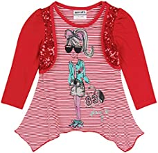 Little Girls39 Long-Sleeve Cartoon Lace Cotton T Shirts 1-6Y