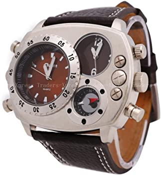 Army Dual Time Zones Sports Mens Watch