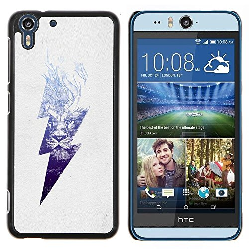 Stuss Case / Premio Sottile Slim Cassa Custodia Case Bandiera Cover Armor PC Aluminium - Danger High Voltage Blitz - HTC Desire Eye M910x