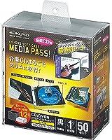 コクヨ CD/DVD用ソフトケース MEDIA PASS 高透明 1枚収容 50枚セット 黒 EDC-CMT1-50D